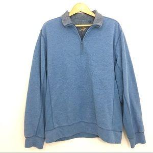 Orvis sweatshirt pullover 1/4 zipper size M blue